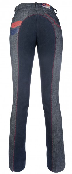 Teens-Jodhpurreithose -County- Denim mit 1/1 Alos