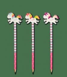 Bleistift mit Einhorn Radiergummi