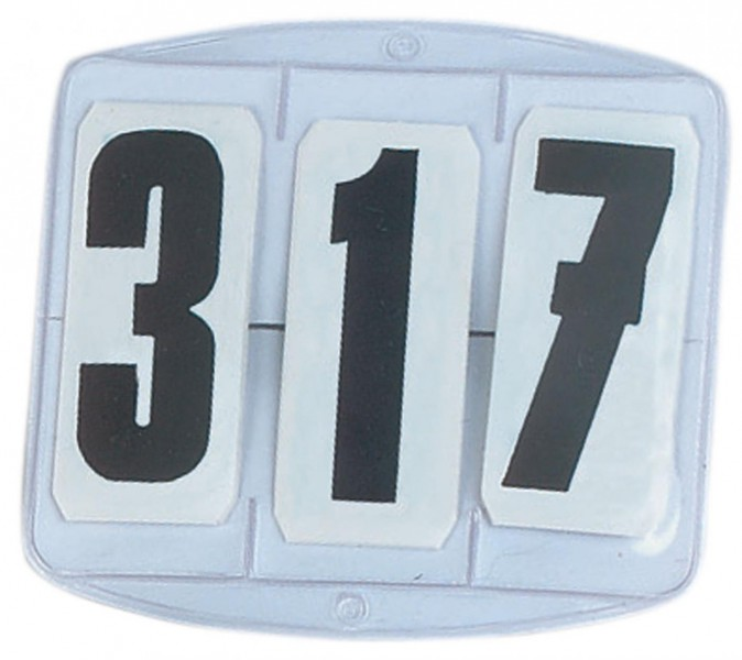 Startnummern ECKIG, 3-stellig