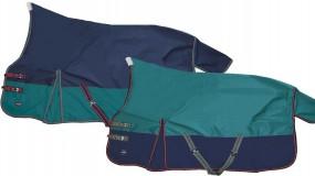Highneck - Outdoordecke mit Fleecefutter grün /blau